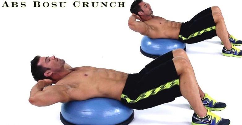Abs Bosu Crunch exercise