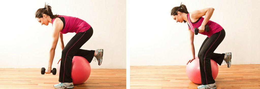 ball row exercise