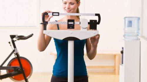 woman weighing