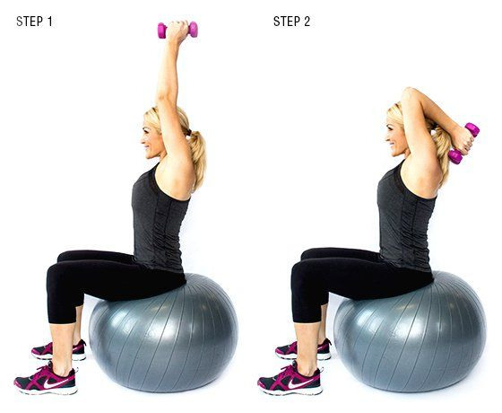 Triceps Extension on Stability Ball