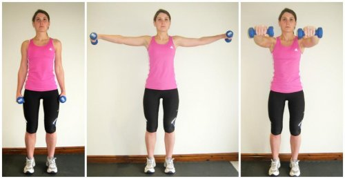 dumbbell front-lateral raise