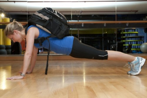 Backpack push-ups