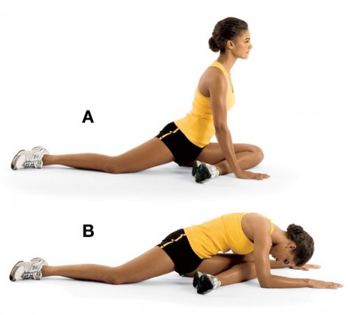 Floor Hip Stretch