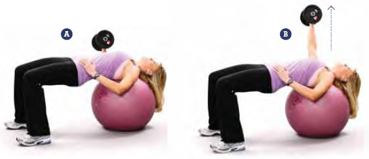 One-Arm Chest Press On Fitness Ball