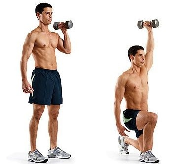 Lunging Shoulder Press