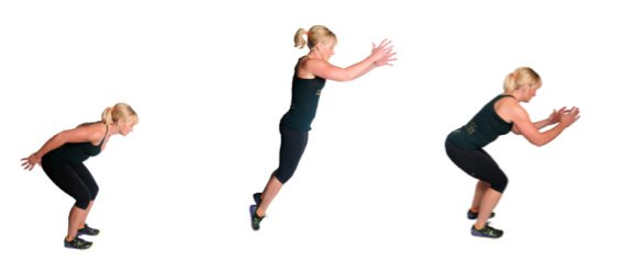 Frog Hops for plyometric