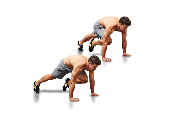 Mountain climbers for abs