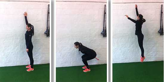vertical jump plyometric exercise