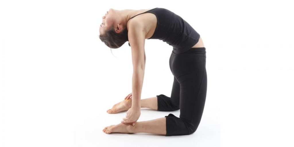 Camel Pose stretching exercise