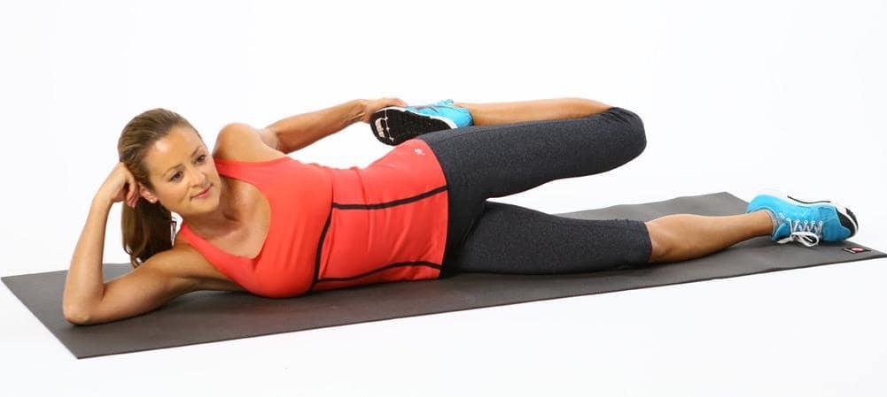 side-lying stretching
