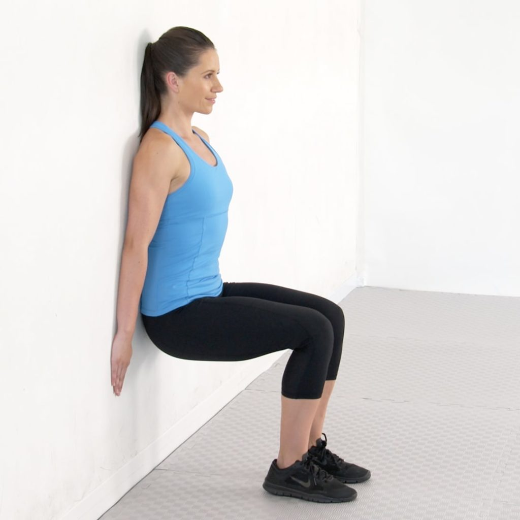 squat hold against wall